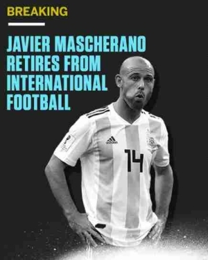 Argentine Legend Javier Mascherano Retires From International Football (Photo)